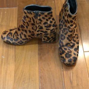 Zara animal print bootie